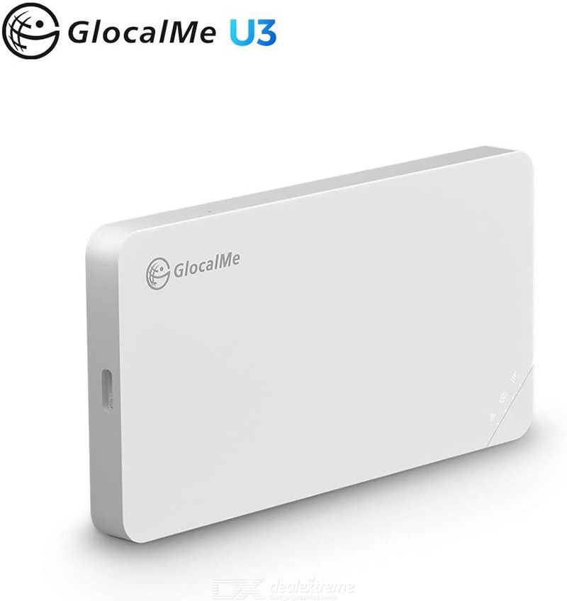 GlocalMe U3 Mobile Hotspot Type-C Interface 3000mAh Li-ion Battery Support IEEE 802.11b/g/n