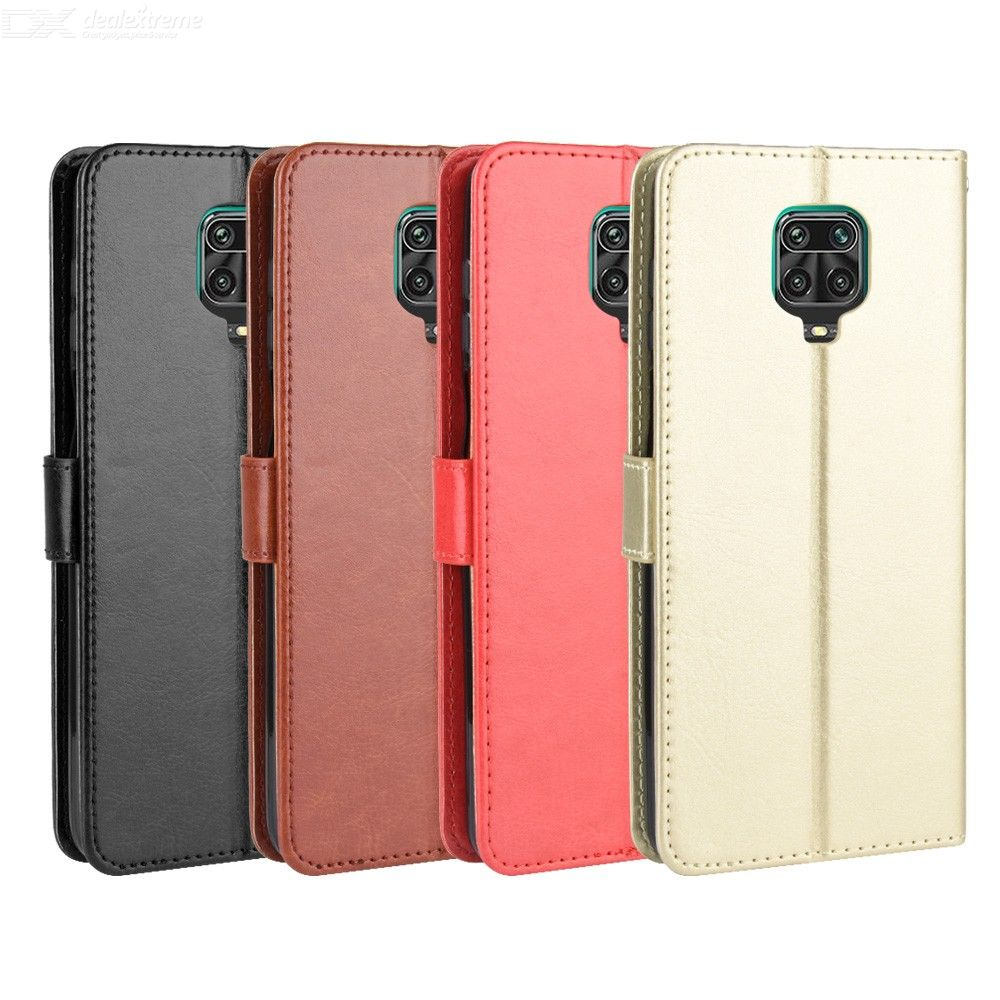 ASLING PU Leather Cover with Holder Wallet Card Storage Phone Case for Xiaomi Redmi Note9S/Redmi Note9 Pro/Redmi Note9 Pro Max