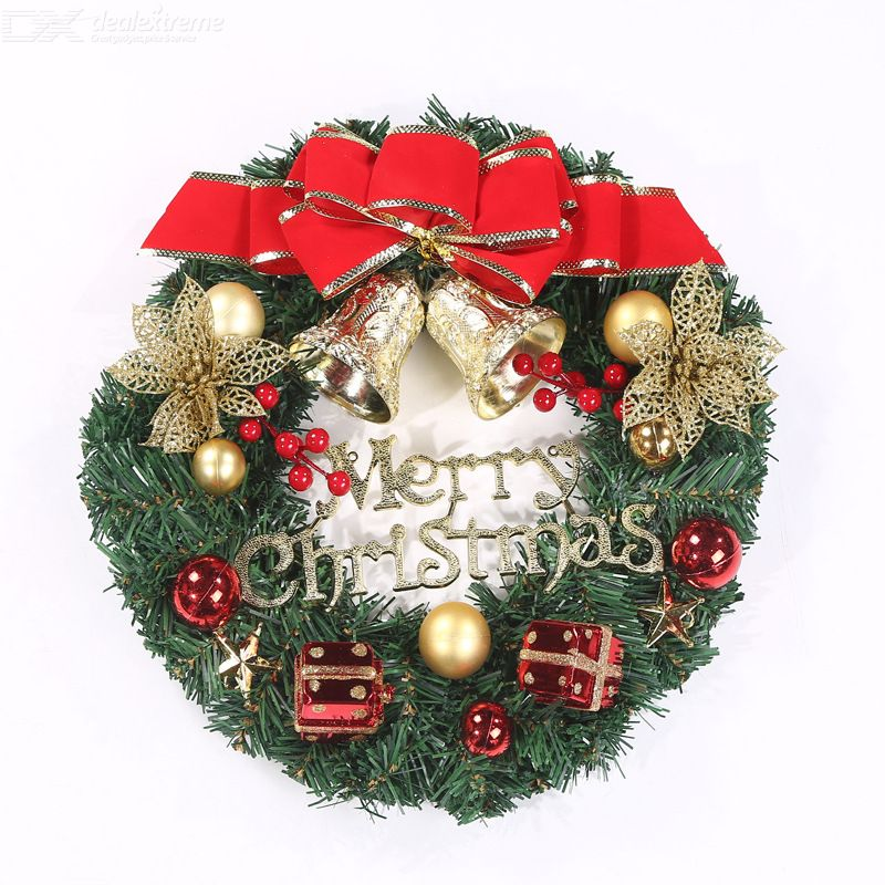 Christmas Flower Ring Wreath Pendant Hanging Wreath Decorations Festive Door Decorations Christmas Ornaments