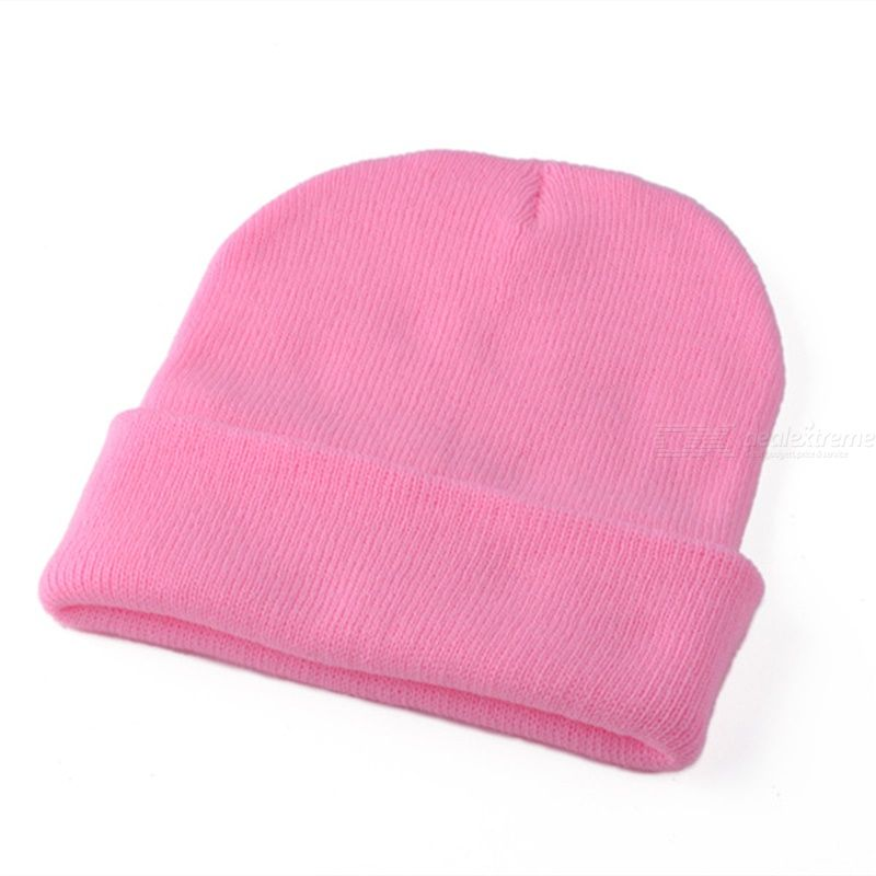 DeRuiLaDy Autumn Winter Warm Knitted Womens Hat Bonnets Casual Ribbed Hip Hop Beanies Skullcap Wool Beanie Skullies Unisex