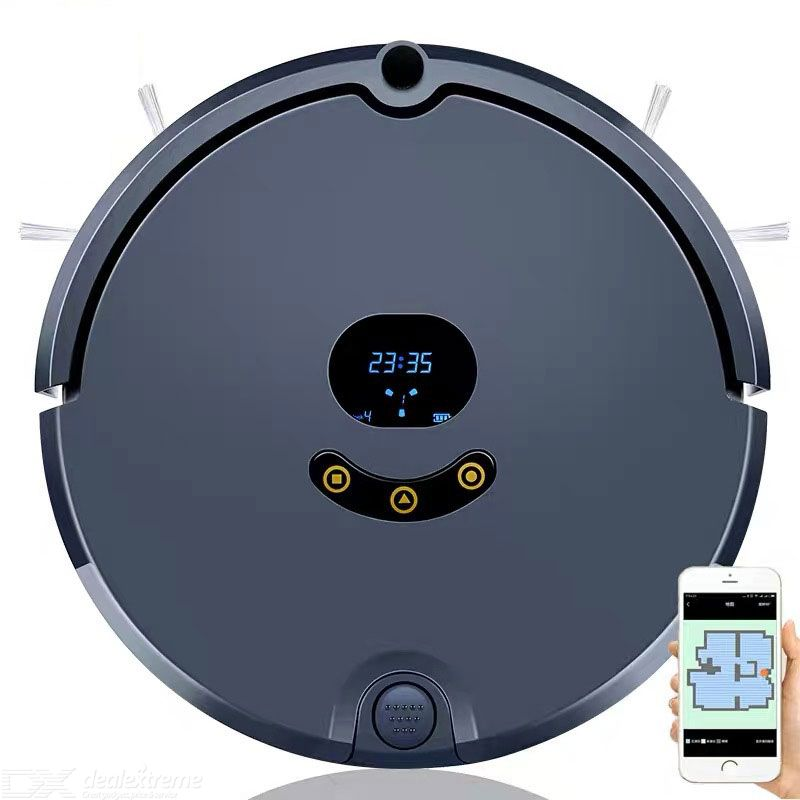 Robot Vacuum Cleaners Fully Automatic Double Scan Bilateral Brush Smart Planning 370ml Dust Box 150ml Water Tank