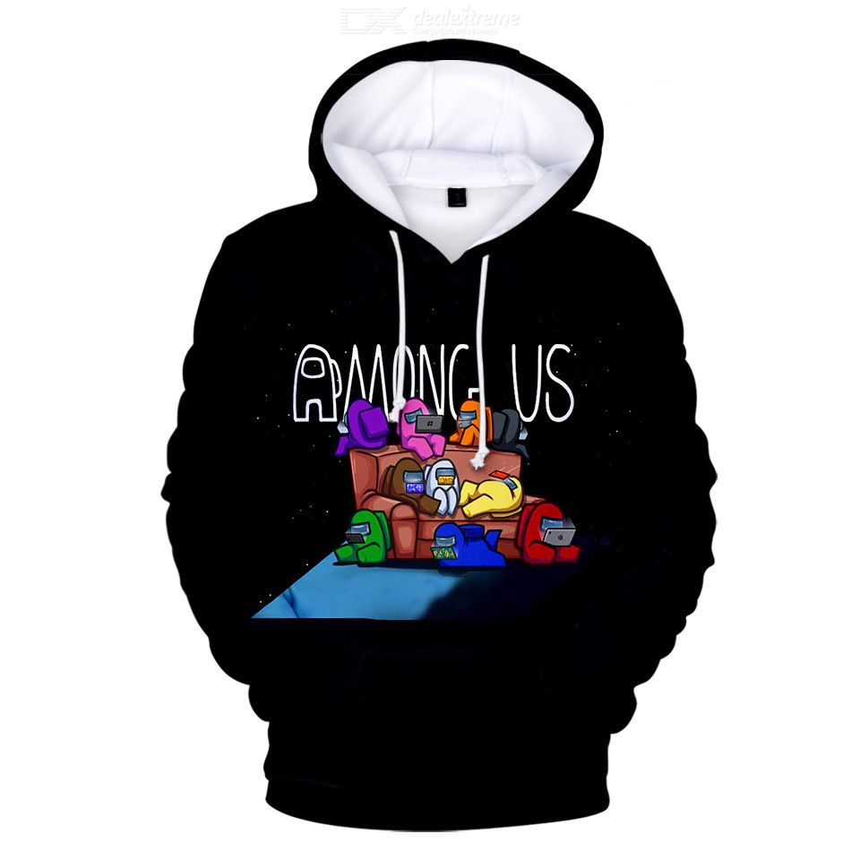 2020 Autumn Foreign Trade Sweatshirt Among Us Hooded Sweatshirt Jacket Between Men And Us Space Werewolf Kill