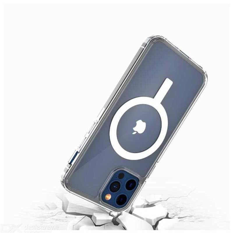 Magnetic Phone Case Drop-proof Transparent Dirt-resistant Shockproof Invisible Nano Airbag Design For IPhone12 Pro Max