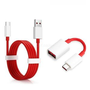 Type C USB OTG Adapter USB 4A Type-C Quick Cable for Oneplus 8 Pro /8/ 7T / 7 /6 / Xiao mi
