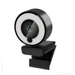1080P HD Webcam with Ring Light Autofocus Built in Microphone Webcam for Video/Live Streaming/Videoconferencing Frosted Style