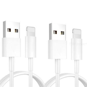 2st 1m USB Quick Charger Cable För IPhone12 / 12Pro / 11 / 11Pro / Xr / 8 Plus / 7 / Xs Max / 6s / 5s