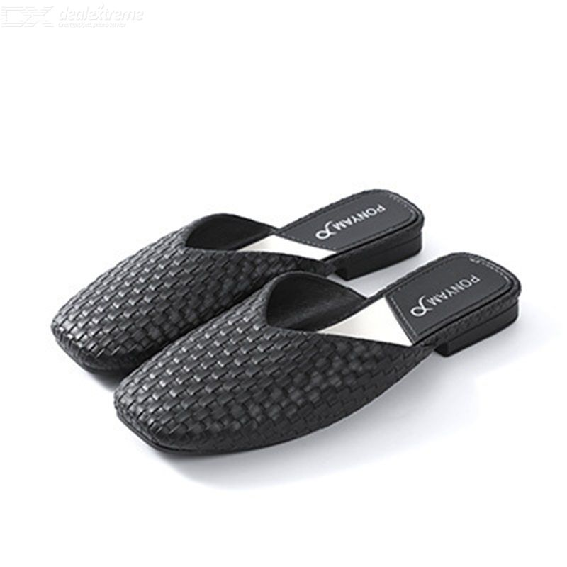 Women Braided Slippers Simple Summer Slippers Fashion Summer Lazy Slippers Plaid
