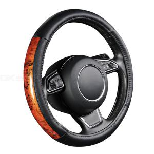 Car Steering Wheel Cover Wood Pattern Simulation Cover For 38 CM Diameter Steering Wheels Universal Car Interior Accessories