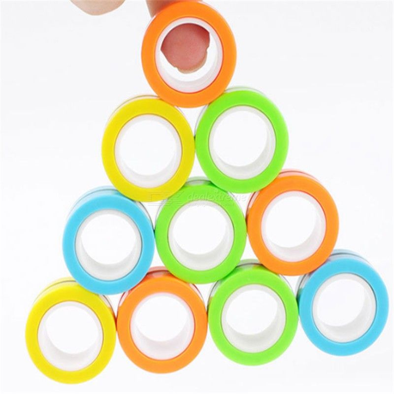 Magnetic bracelet ring decompression puzzle fingers gyro toys