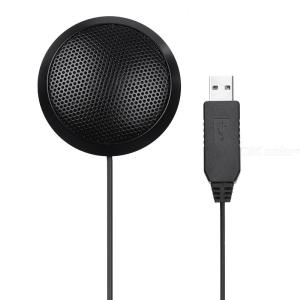 USB Conference Microphone Omni-directional Computer Microphone for Video Conderence Live Streaming Online Interview Chatting