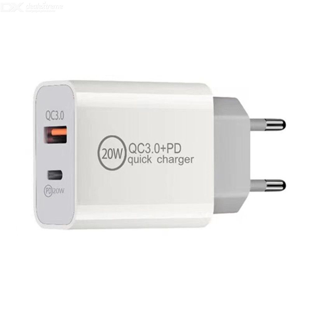 20W PD Charger USB QC3.0 Type c Power Fast Adapter For  iPhone 12 /12 Pro / Xiaomi /Samsung EU