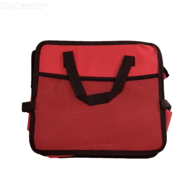 Trunk Storage Box Foldable Grid Portable Retractable Waterproof With Two Side Pockets