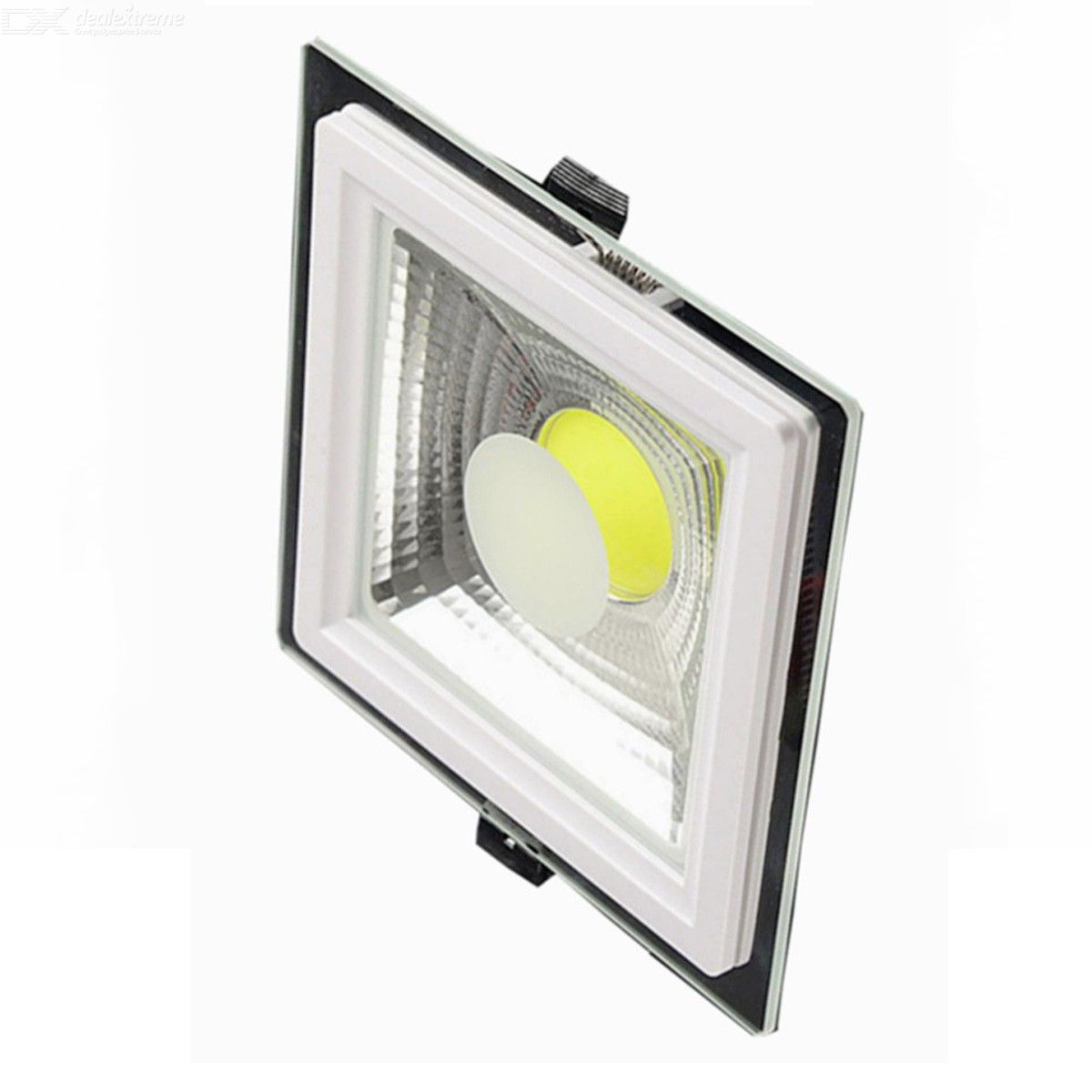 DIMMABLE Square Shell 5W 10W 15W Led COB Panel Lights Warm White Cold White 120 Beam Angle + Drivers White body