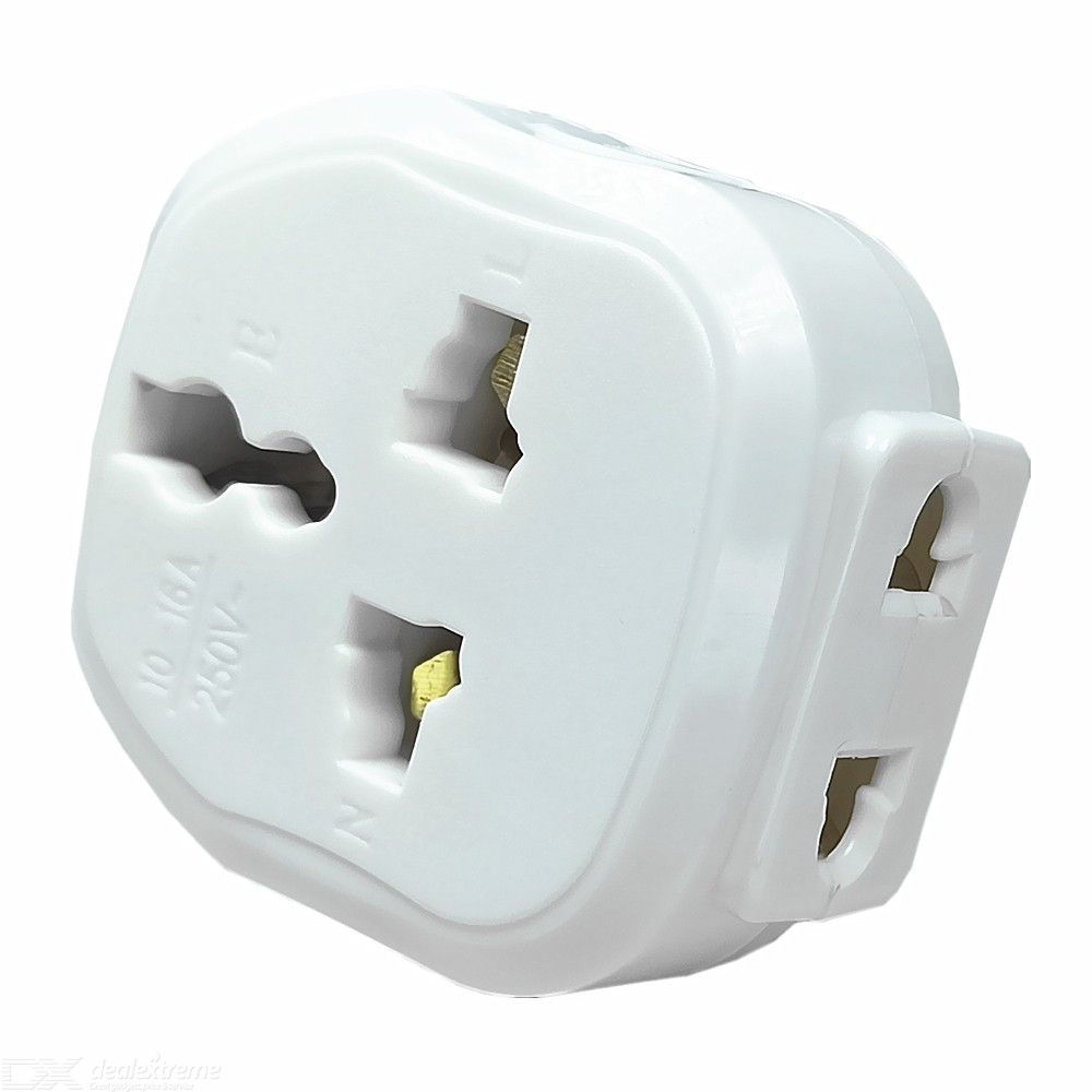 7-Hole India / South Africa Socket Adapter 250V 16A High Power / 3 Round Pin Plug