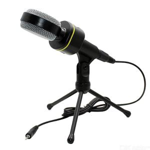 Condenser Microphone Professional Microphone Mic Tabletop Sound Studio Recording Tripod with 3.5mm Jack Cable