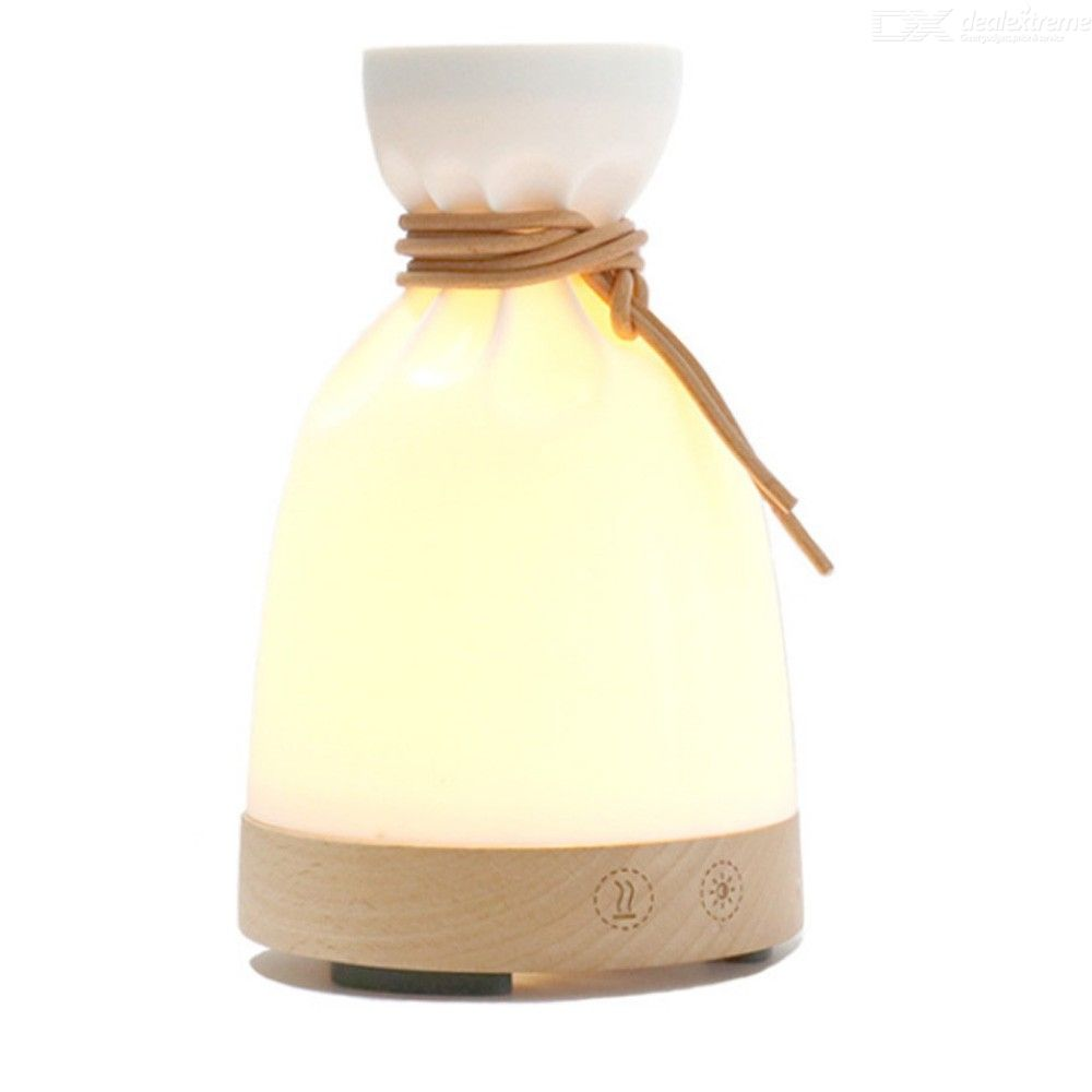 High Quantity 140ml Air Humidifier Small Bag Aroma Essential Oil Diffuser Mist Maker With Warm Night Light For Home Sleep
