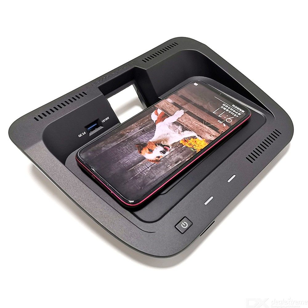 For  RAV4 RAV 4 2019 2020 10W car QI wireless charger wireless phone holder center console storage box charging plate
