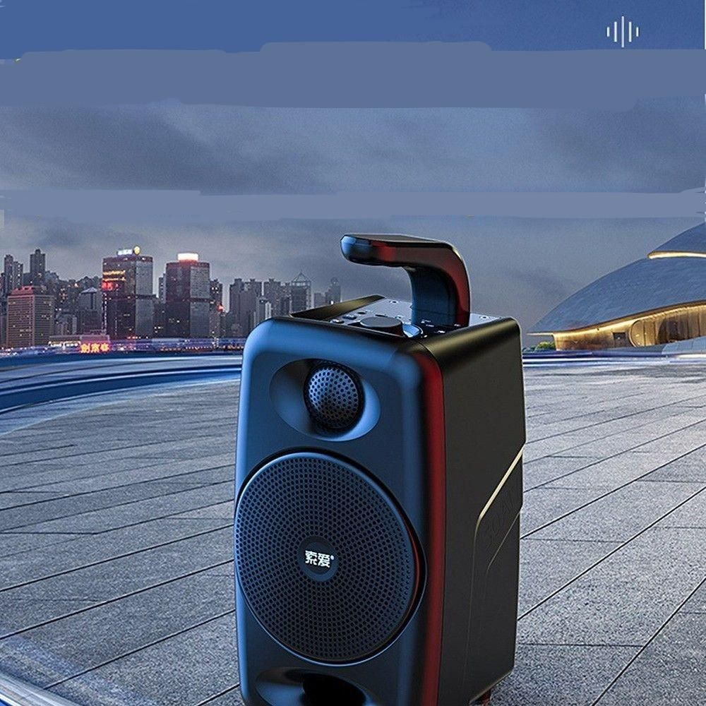 Portable Speaker High Power Boom Box Outdoor Subwoofer speaker wireless microphoneBluetooth Column Wireless Bluetooth Speaker
