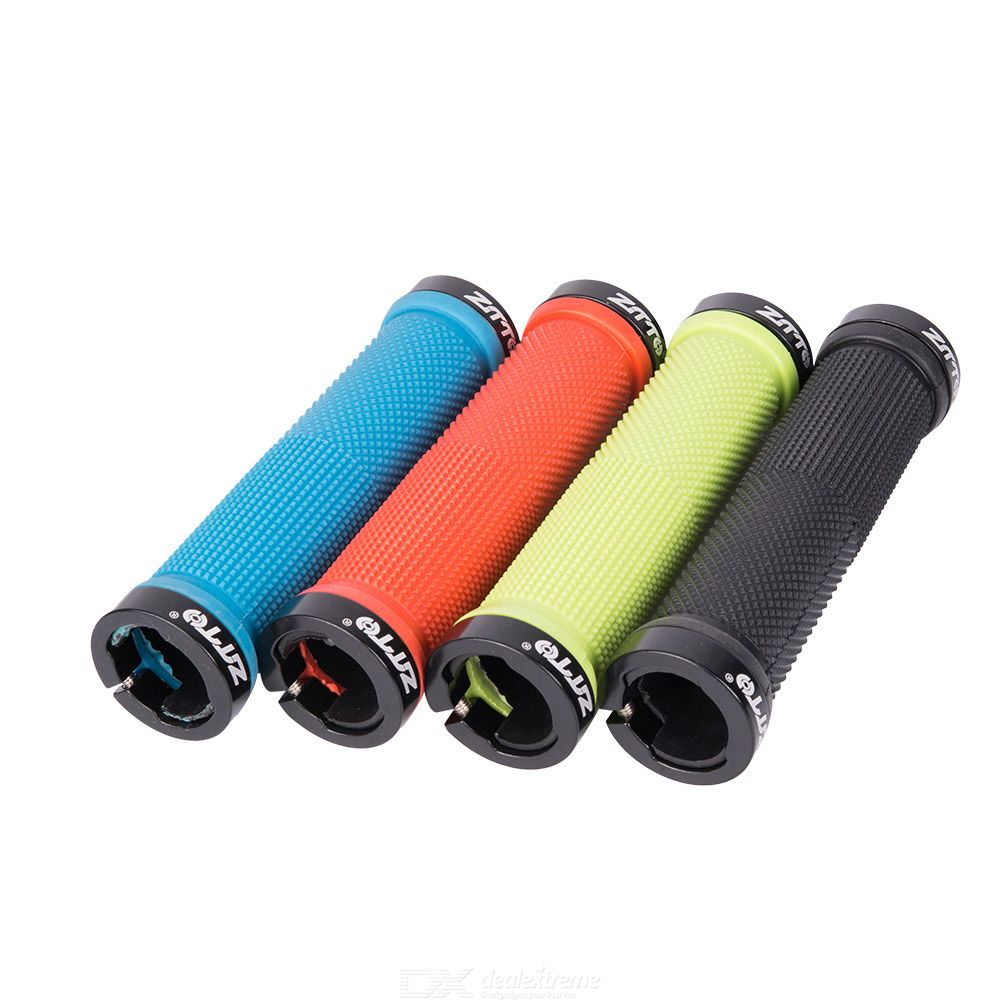 Mountain Bike Bicycle Anti-slip Soft Rubber Handle Bar Ends Hand Grips LI