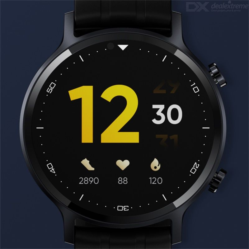 Realme Watch S Smart Watch Round Dial Fashion Watch Outdoor Sport Watch Real-time Heart Rate Monitoring