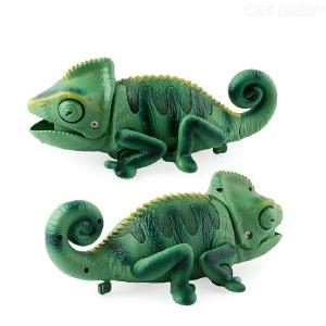 Electric Remote Control Light Crawling Chameleon Funny Bug Catching Toy Tricky Chameleon Toy