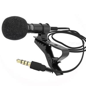 Portable professional Lavalier microphone 3.5mm jack hands-free omnidirectional microphone, very suitable for live recording
