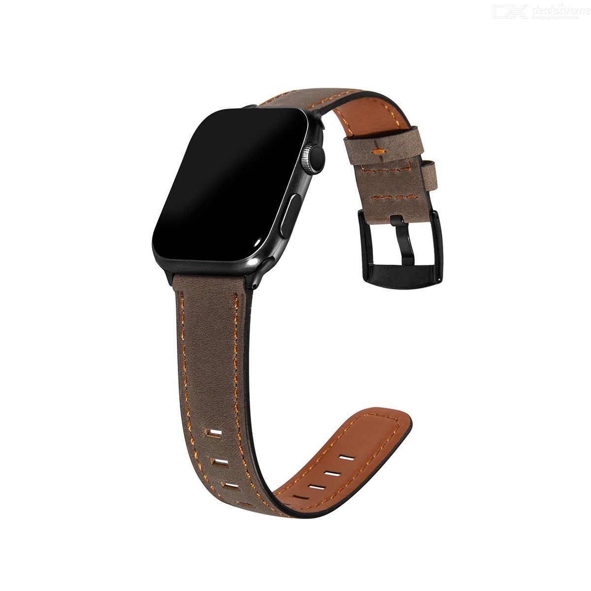 For Apple Watch Series 6/5/4/SE 44mm Hat-Prince ENKAY 2 in 1 Retro Style PU Leather Watch Band + 3D Full Screen PET Curved Hot B