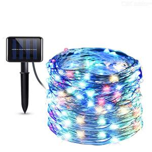 8-function LED solar lamp string outdoor waterproof Christmas decoration lamp 10m / 100