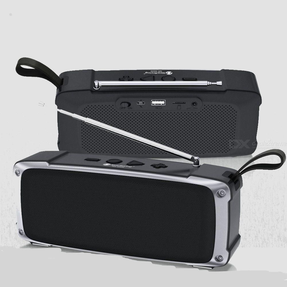 NR-4020FM Wireless Bluetooth Speaker Deep Bass Speaker Portable Subwoofer FM Radio Speaker
