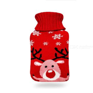 Rubber Hot Water Bottle Water Injection Warm Water Bag 2000ml Hand Warmer With Knitting Cover