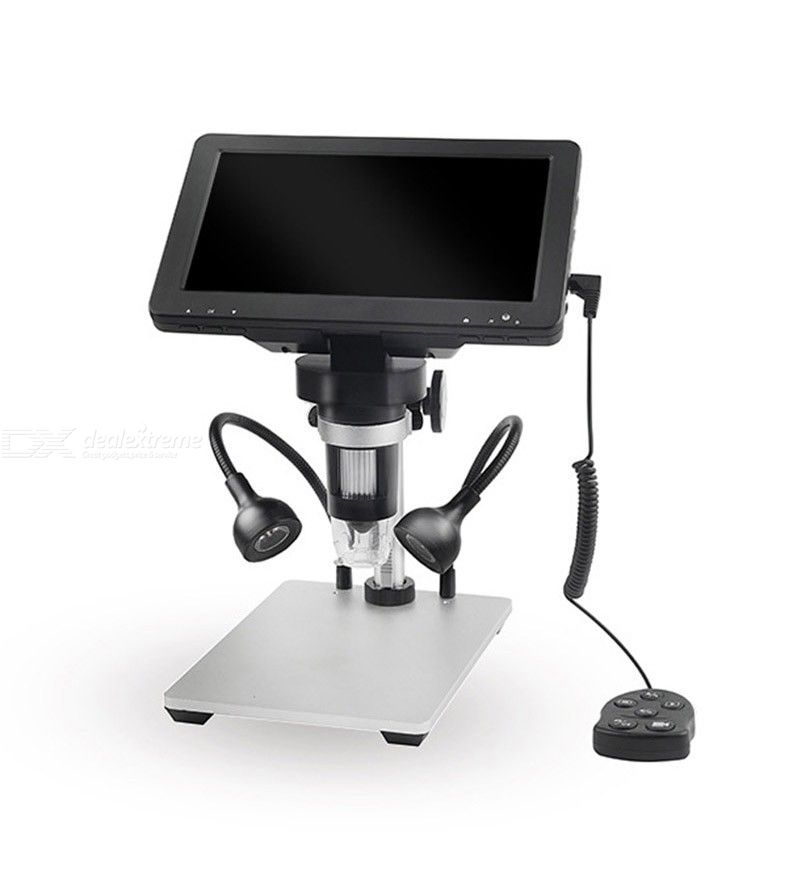 DM9 USB Digital Microscope with 7 inch Display 1080p FHD Camera Electronic Stereo USB Endoscope