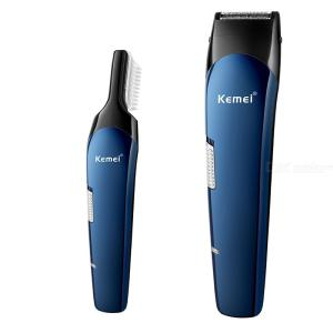 KEMEI KM-550 Electric Hair Clipper Rechargeable Wireless USB Port Stainless Steel Material With Limit Comb