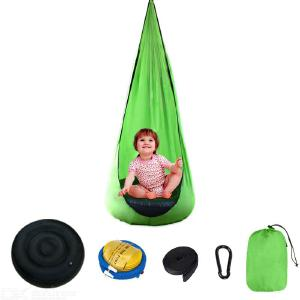 Swing Seat Portable Parachute Cloth Swing Bed Hanging Chair With Inflatable Cushion For Kids