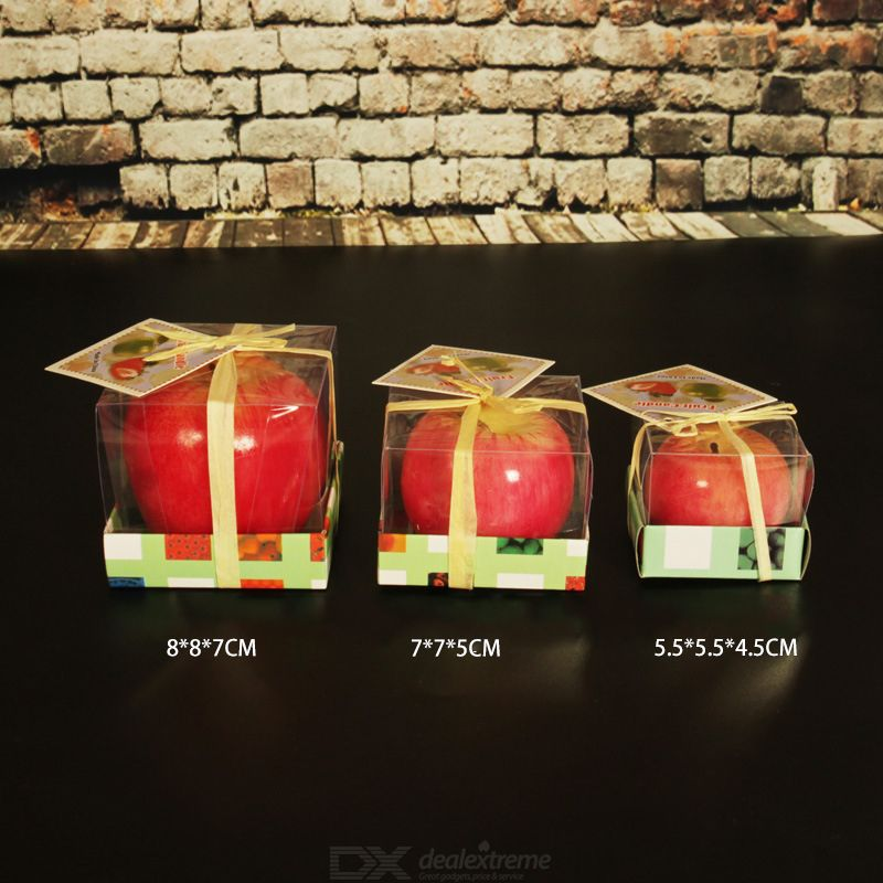 Simulation Red Apple Candle Christmas Present Smokeless Scented Candle Christmas Peace Fruit Candle