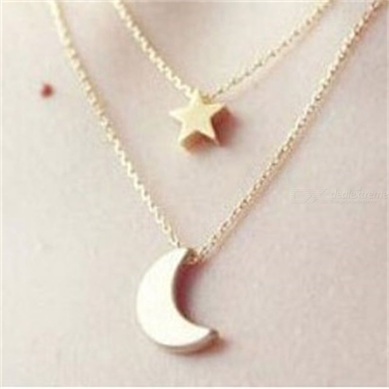 Necklace Star Moon Pendant Necklace Short Clavicle Chain Fashion All-match Necklace For Women