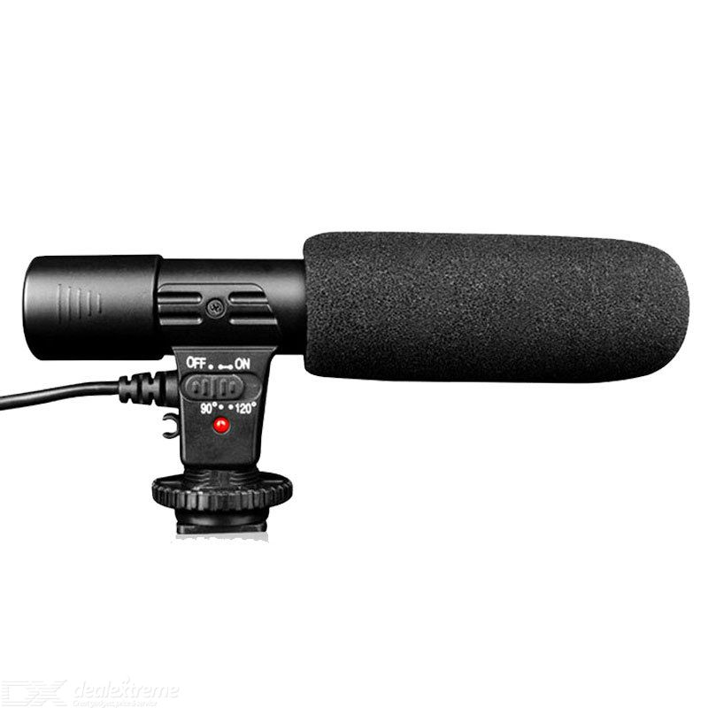 MIC-01 Stereo Microphone Professional News Interviewing Recording Microphone For Camera DV Computer