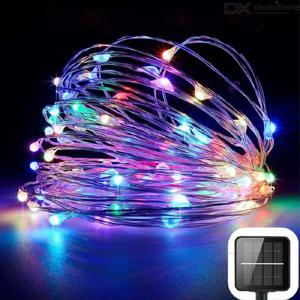 Solar outdoor led light string 20m fairy tale light garden waterproof solar light Christmas and New Year decoration garland