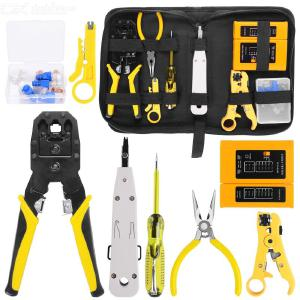 9 in 1 tool kit network repair tool kit, RJ45 RJ11 RJ12 CAT5 CAT5e, portable UTP cable tester and crimping pliers, PC pliers
