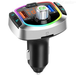 Multifunction Bluetooth Car FM Transmitter MP3 Player PD+QC3.0 Car Charger