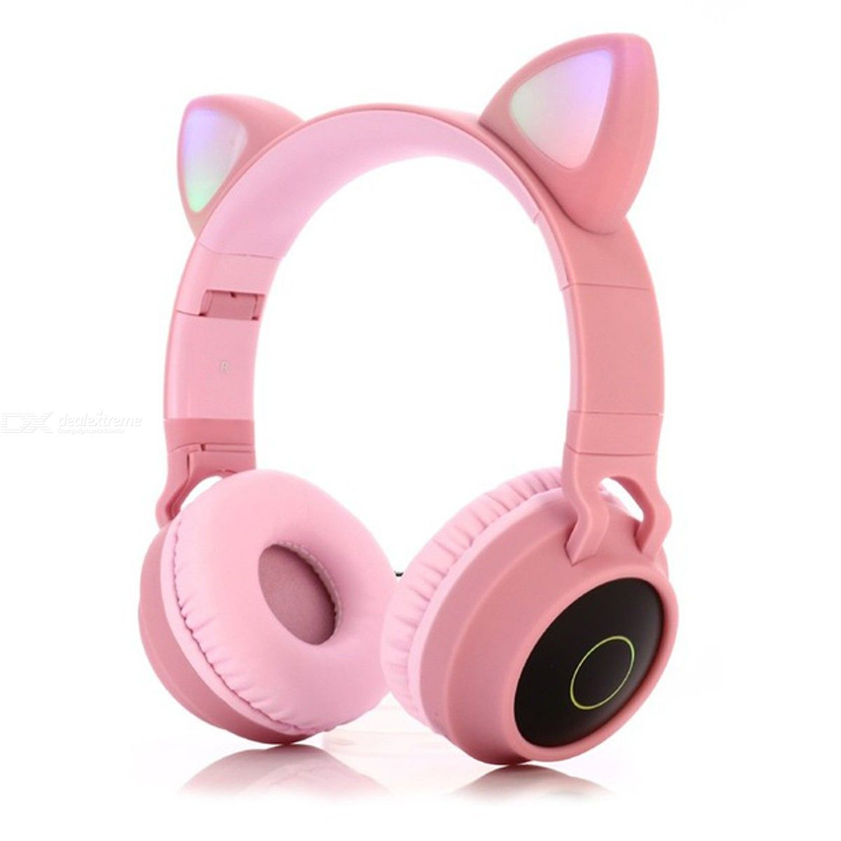 Bluetooth 5.0 Headphones Cat Ear LED Light Wireless Headphones HIFI Bass Stereo Headphones for Phones with Mic