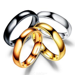 Fashion Simple Rings Shinny Stainless Steel Titanium Rings Engagement Wedding Rings