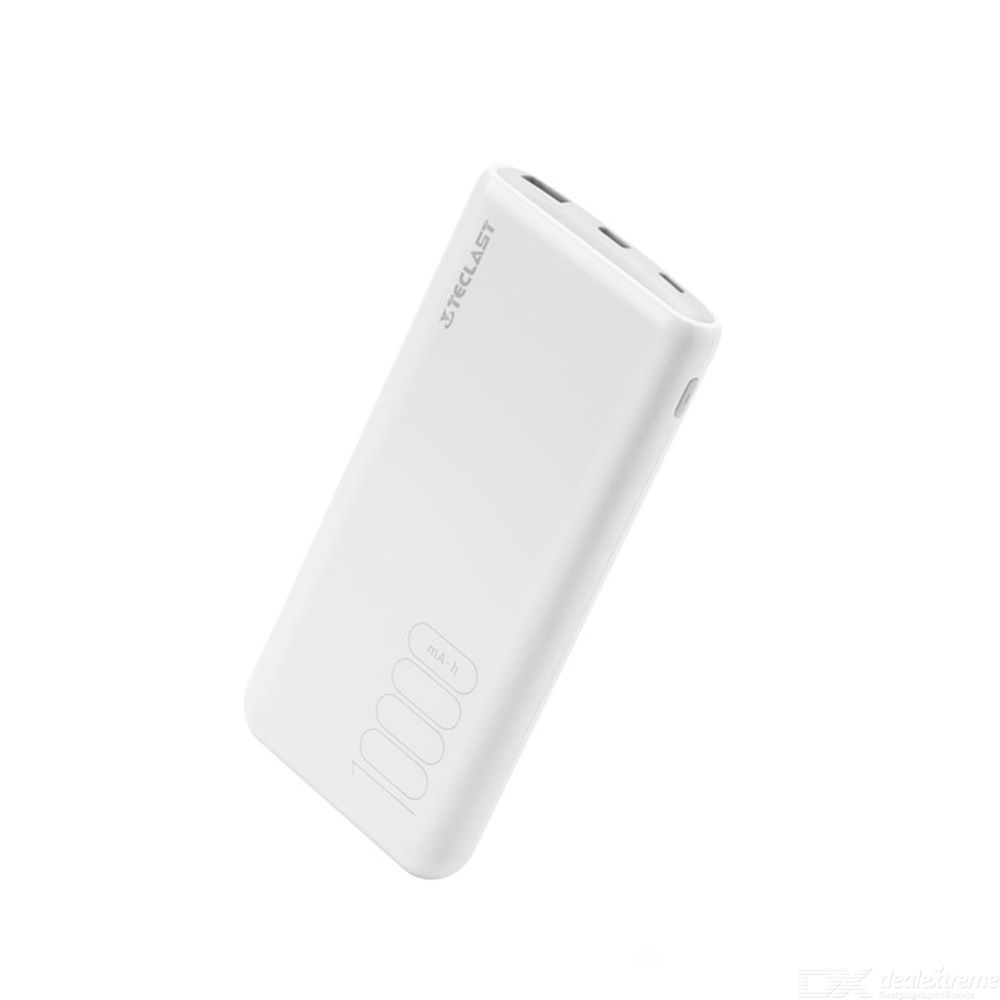 Teclast T100H Power Bank 10000mAh Micro USB Type C Dual Input Power Bank Ultra-thin Portable Battery Pack