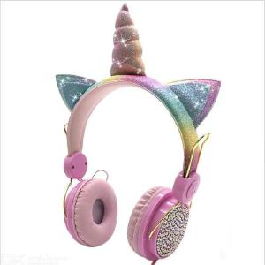 Unicorn Shape Cartoon Headphone Cute Children Headphone Wired Headset Universal Headphone For Computer Mobile Phone