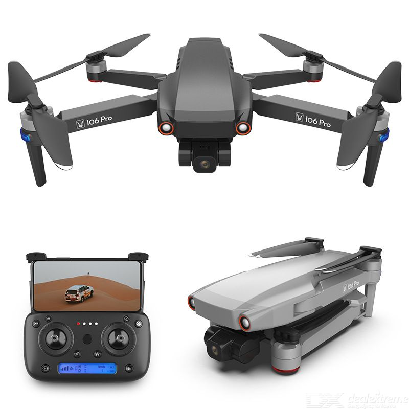 106 PRO Foldable Drone Portable Anti-shake 4K HD Camera GPS Positioning Optical Flow Positioning (Single Electric Version)
