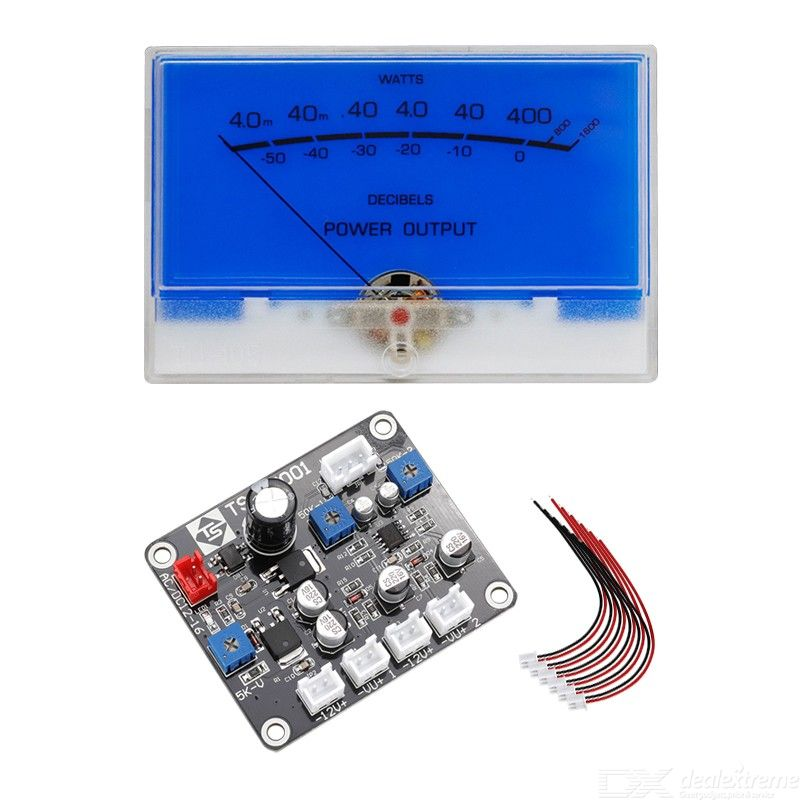 High-precision VU meter head with driver board TN-105 with backlight volume meter audio power meter amplifier DB level meter