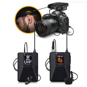 XTUGA X-CM012 UHF Wireless Lavalier Microphones For DSLR Camera/DV/Camcorders/Audio Recorder Lapel Mic