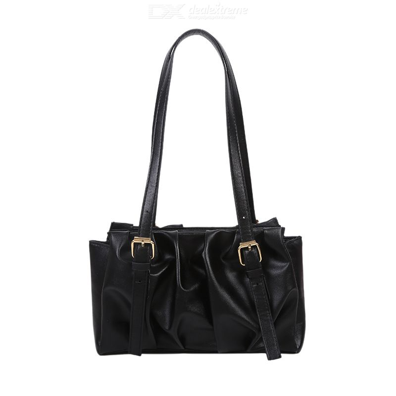 Pleated Bag All-match Shoulder Bag Underarm Bag Small Square Bag For Women