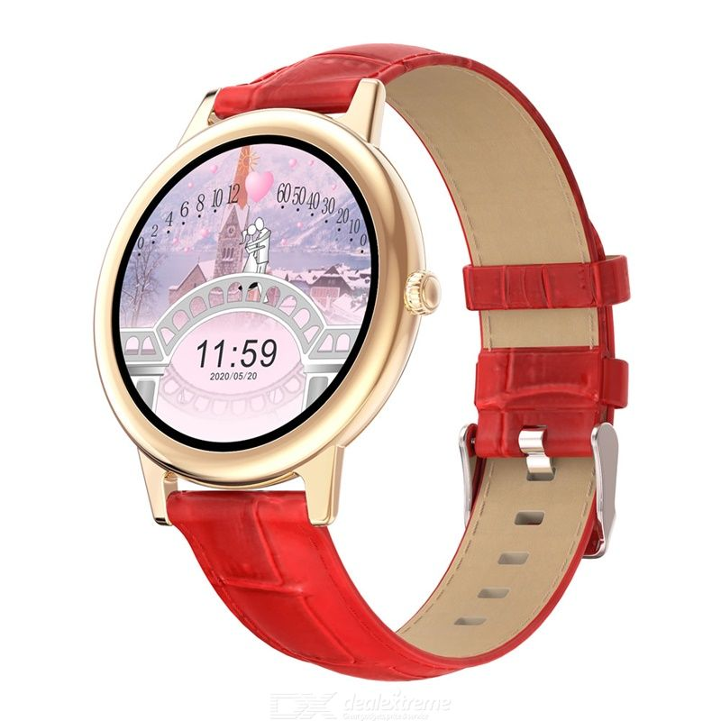 E10 Smartwatch Waterproof Full Touch 1.09inch TFT Round Screen Bluetooth 5.0