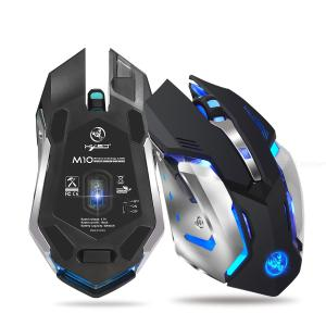 HXSJ M10 Gaming Mouse Wireless Rechargeable 2400dpi 10m USB Port 2.4GHz Wireless Connection