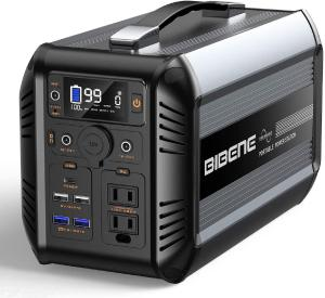 BIBENE 500W Portable Power Station CN505, 614Wh Solar Generator with PD 60W USB-C, 110V Power Supply AC Outlet for Outdoor